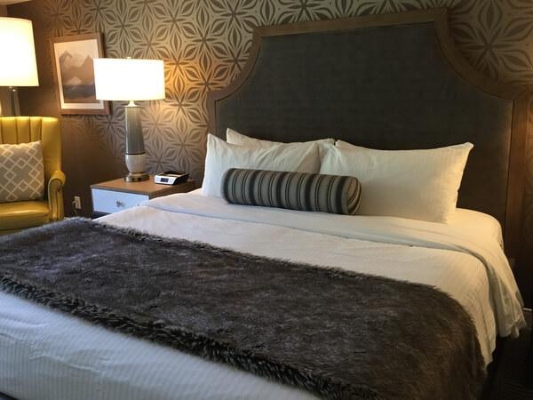 Guest room, Sun Peaks Grand Hotel, Sun Peaks Resort, BC Canada