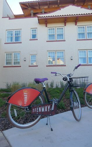 Bikes for cruising Dunedin or the Pinellas Trail are complimentary for guests of the Fenway Hotel in Tampa Bay