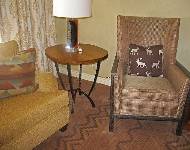 Seating area, Little America Hotel, Flagstaff, Arizona (Photo by Susan McKee)