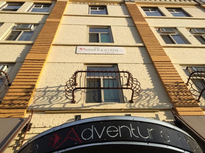 Exterior, Adventure Hotel, Nelson BC Canada