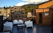 Roof deck, Adventure Hotel, Nelson BC Canada