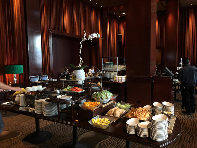 breakfast buffet, the clift royal sonesta hotel, san francisco velvet room