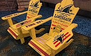 landshark chairs at River Spirit Casino Resort