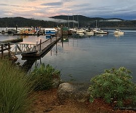 On the water, Sooke Harbour Resort & Marina, Sooke BC Canada