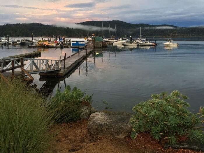 On the water, Sooke Harbour Resort & Marina, Sooke BC Canada