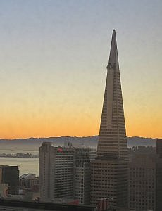 TransAmerica Pyramid from Stanford Court View from Premier View Room