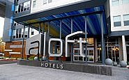 exterior of aloft hotel seatac