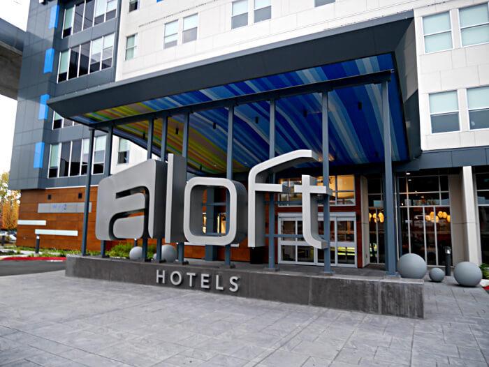 exterior of aloft hotel seatac