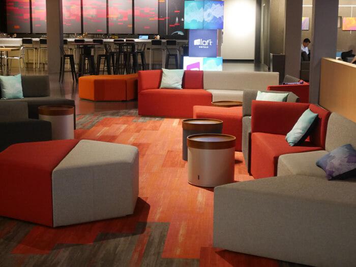 bar lounge area at aloft seatac