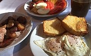 Breakfast, Farm Table Inn, Cowichan Valley, BC Canada