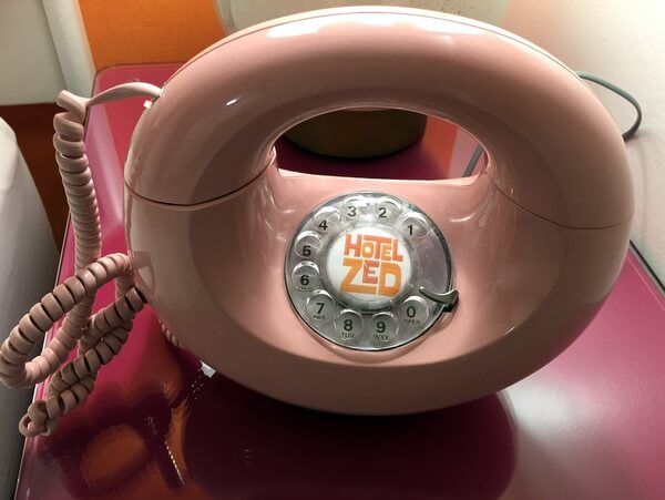 Rotary phone, Hotel Zed, Kelowna BC Canada