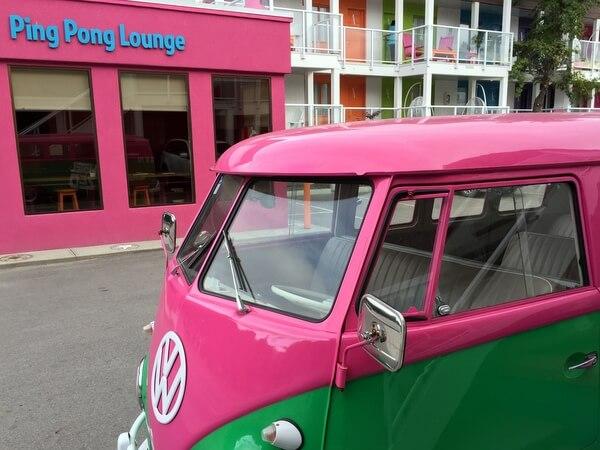 Ping pong lounge, Hotel Zed, Kelowna BC Canada