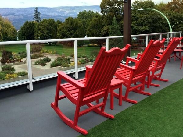 Roof deck, Hotel Zed, Kelowna BC Canada