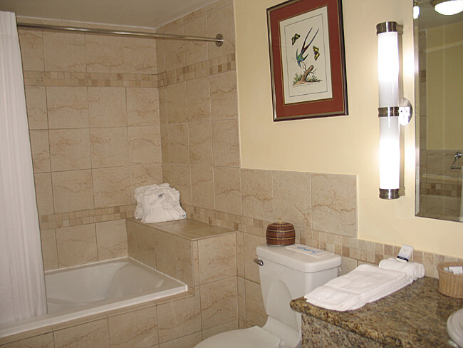 Bathroom, Fort Young Hotel, Roseau, Dominica (Photo by Susan McKee)