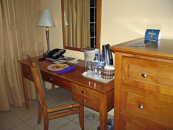 Guestroom, Fort Young Hotel, Roseau, Dominica (Photo by Susan McKee)