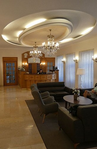 Lobby of Prince de Ligne Hotel on the main square in Teplice, Czech Republic, 1.5 hours north of Prague