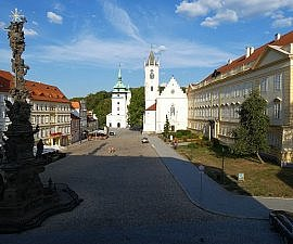 View from Prince de Ligne Hotel in Teplice, Czech Republic north of Prague