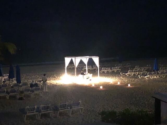 reef playacar private dinner on beach