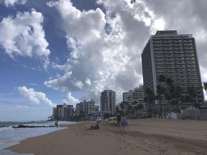 beach side of Marriott San Juan