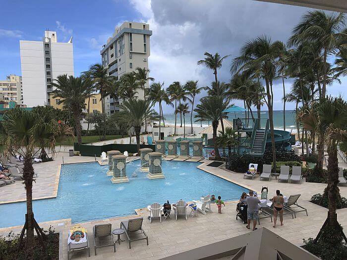 Pool view Marriott San Juan