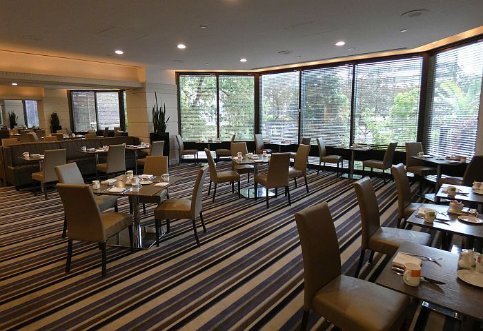 One of two restaurants at Doubletree Montreal Hotel
