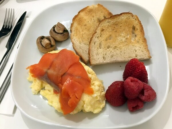 Eggs and salmon, Blackstone B&B, Fernie, BC, Canada