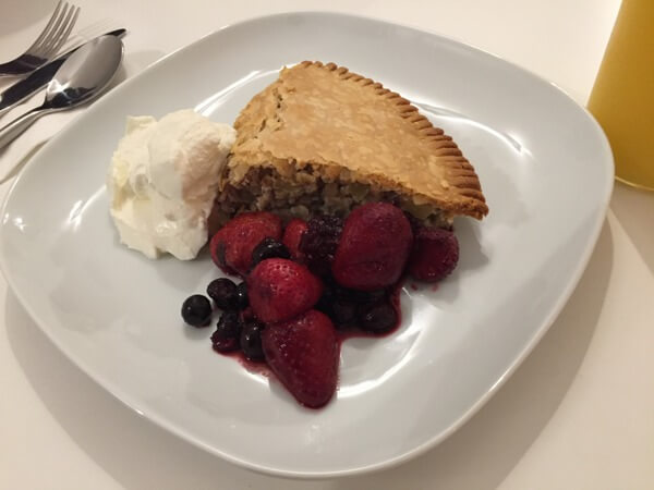 Oatmeal pie, Blackstone B&B, Fernie, BC, Canada