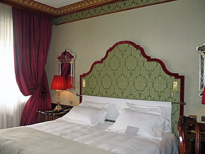 bedroom, Hotel Danieli, Venice, Italy (Photo by Susan McKee)