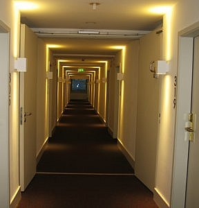Hallway, NH Collection Hotel Cologne Mediapark, Germany (Photo by Susan McKee)