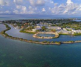 Hawks Cay Resort Lagoon Aerial