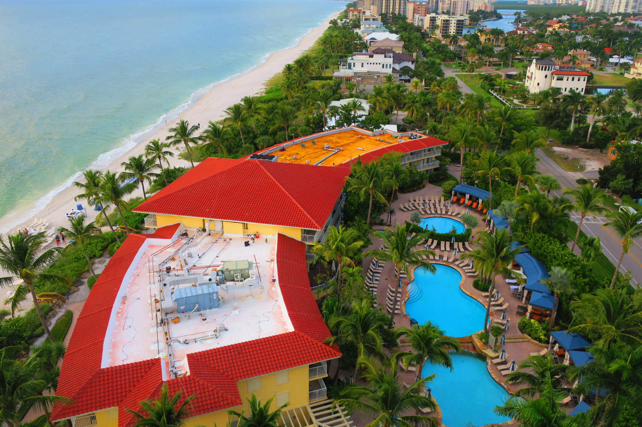 Aerial view La Playa Beach and Golf Resort