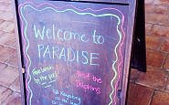 Welcome to Paradise sign Hawks Cay Resort