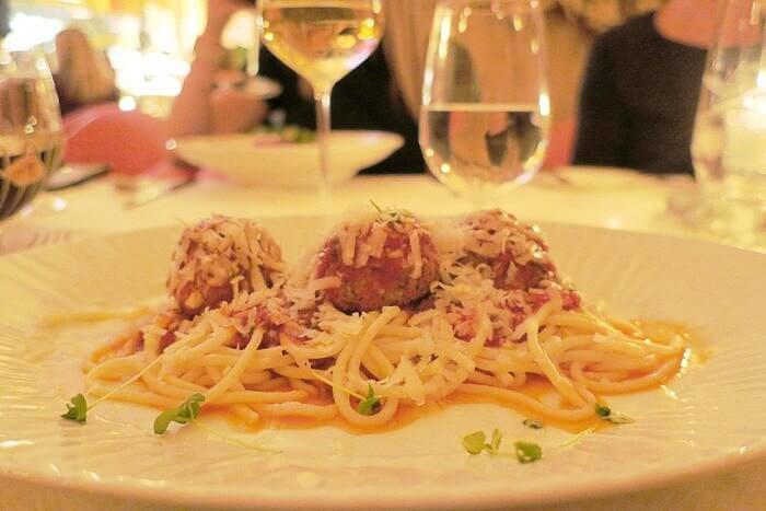 Romanza Ristorante Spaghetti and meatballs