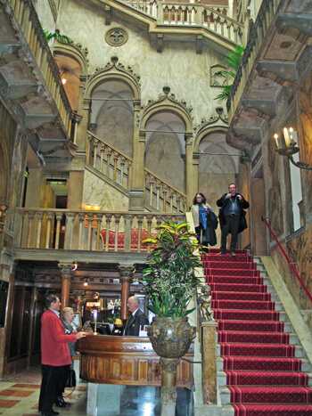 Grand Staircase, Hotel Danieli, Venice, Italy (Photo by Susan McKee)