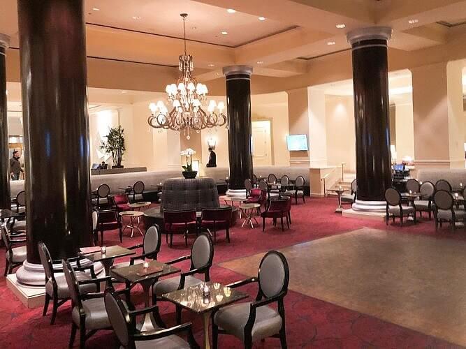 lobby area fairmont sjc