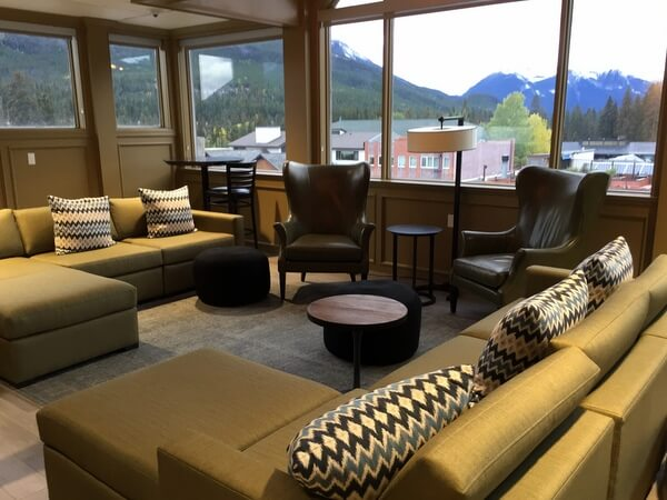 Rooftop lounge, Mount Royal Hotel, Banff, Alberta, Canada