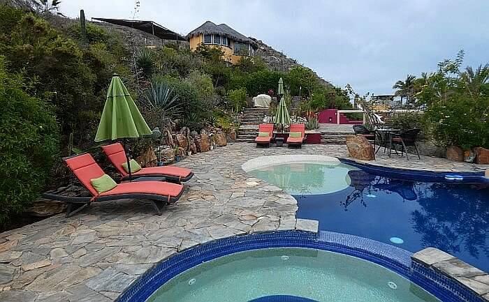 Los Colibris Todos Santos hotel pool