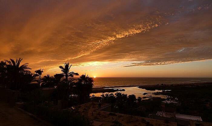 Todos Santos sunset view from Los Colibris Casitas in Baja