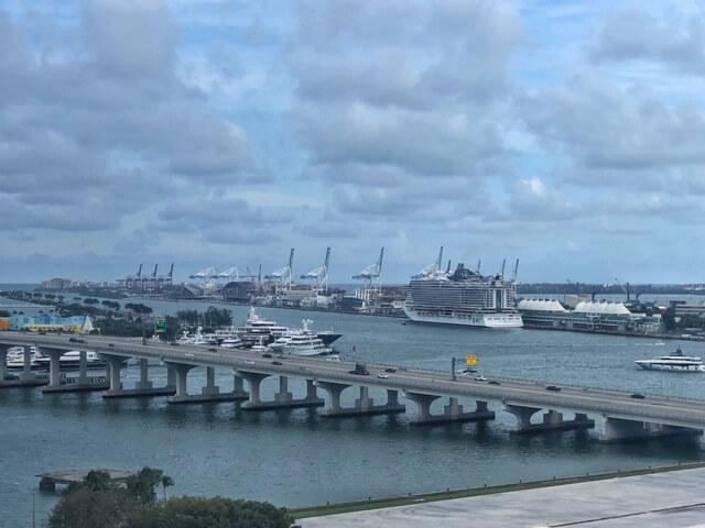 view of miami cruise terminal