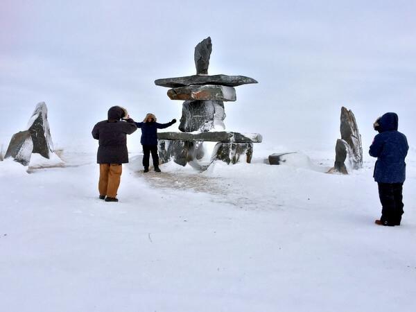 Inukshuk, Churchill, Manitoba Canada