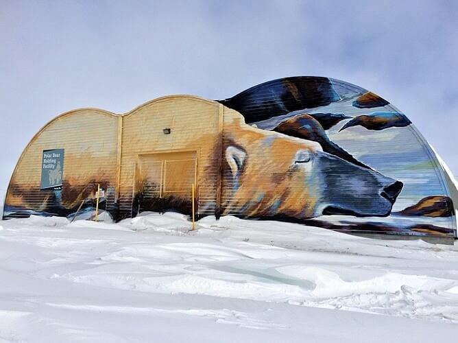 Polar bear mural, Churchill, Manitoba Canada