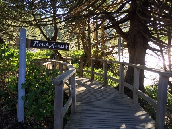 Beach path, Wickaninnish Inn, Tofino BC Canada
