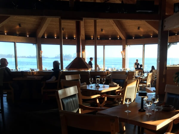 Pointe Restaurant, Wickaninnish Inn, Tofino BC Canada