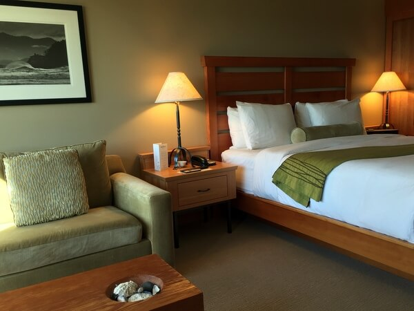 Guest room, Wickaninnish Inn, Tofino BC Canada