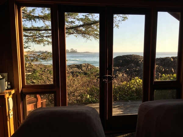 Spa cottage, Wickaninnish Inn, Tofino BC Canada