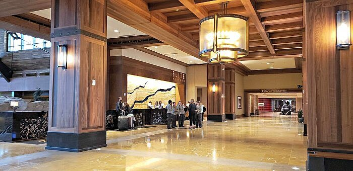 Gaylord Rockies Resort & Convention Center, entrance, lobby & reception area.