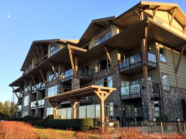 Exterior, The Beach Club, Parksville BC Canada