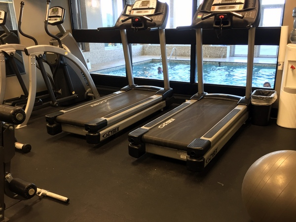 Fitness center, The Beach Club, Parksville BC Canada