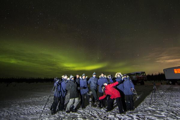 Northern lights, Churchill, Manitoba Canada