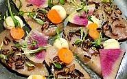 hamchi crudo, limewood restaurant, fairmont hotel berkeley